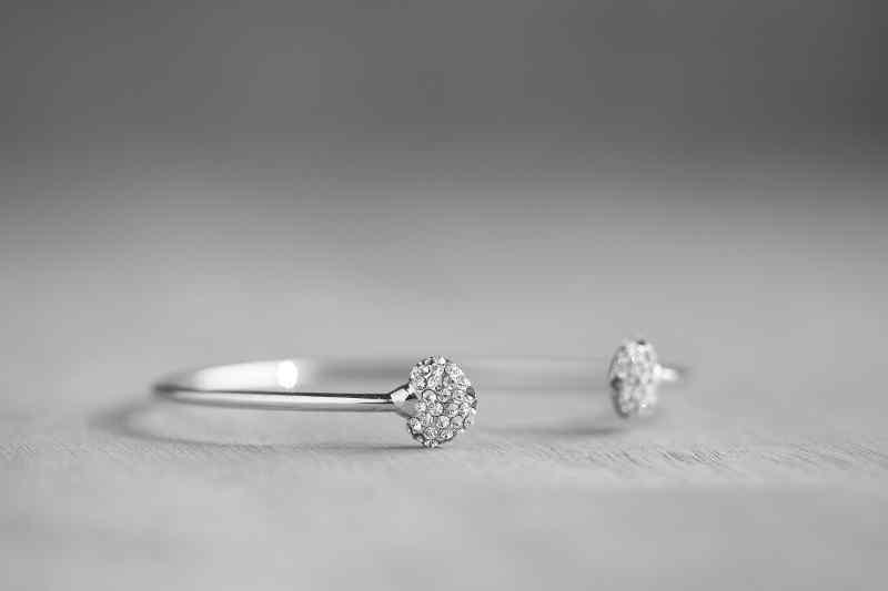 bracelet diamant et platine